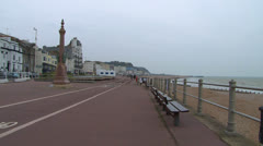 Hastings Promenade Stock Footage
