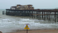 Stock Video Footage of Hastings Pier
