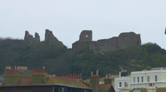 Hastings Castle Stock Footage