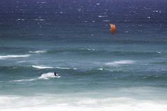 Kite surfing in South Africa Stock Photos
