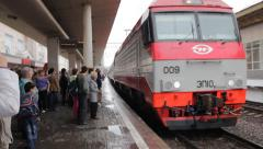 Russian Train Station Stock Footage
