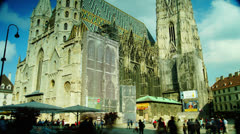 VIENNA - May 20:  The most important religious building in Austria's capital Stock Footage