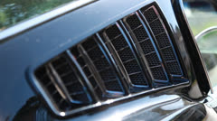 Mustang window louvers cu a, backfocus Stock Footage