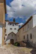 albaicin courtyard - stock photo