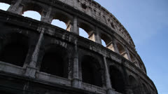 Colosseum Walls Stock Footage