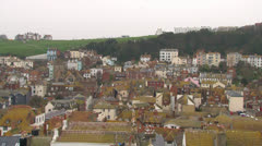 Hastings Old Town and Sea Stock Footage