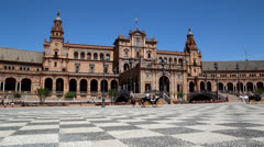Plaza de Espana - stock footage