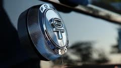 Polishing the GT logo a Stock Footage