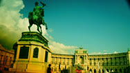 Stock Video Footage of 4k, Hofburg Palace with tourists on May 06, 2013 in Vienna, Austria.