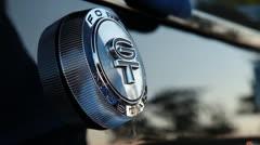 Polishing the GT logo, long Stock Footage