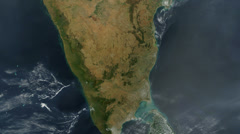 India From Space Stock Footage