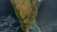 Stock Video Footage of India From Space