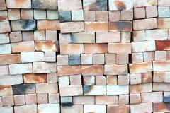 piles of new bricks unused - stock photo