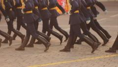 Russian Army Parade Stock Footage