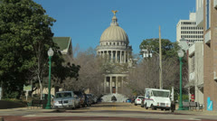 Mississippi State Capitol Wide - stock footage