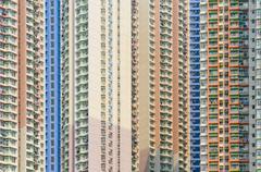 Concrete jungles of hong kong Stock Photos
