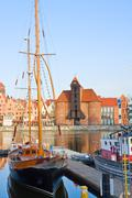 harbour of gdansk - stock photo