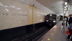 Russian Subway Train Stock Footage