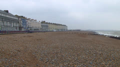 Eastbourne Beach Stock Footage
