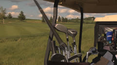 Golf reach for club close 2 Stock Footage