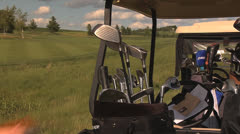 Golf slower reach for clubs Stock Footage