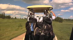 Golf Cart On Path Stock Footage