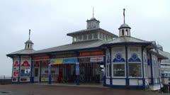 Victorian Era Pier Entrance Stock Footage