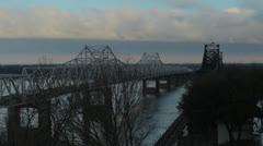 Vicksburg Bridge Stock Footage