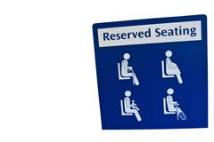 Reserved seating sign Stock Photos