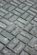 Pattern paving block floor Stock Photos