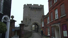 Lewes Castle Gatehouse Stock Footage