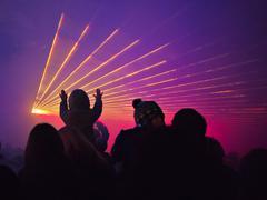 Laser show Stock Photos
