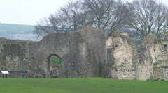 St Pancras Priory Ruins Stock Footage