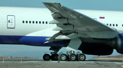 Big powerful and reliable passenger plane of civil aviation - stock footage