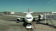 Stock Video Footage of Airport apron at the John F. Kennedy International Airport (JFK).
