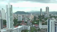 Main center of the Panama City Skyline Stock Footage
