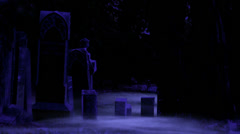A Graveyard in the Night Stock Footage