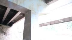 Under a Bridge - stock footage