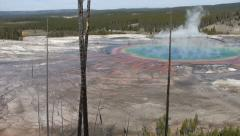 GRAND PRISMATIC-CAMERA PAN Stock Footage