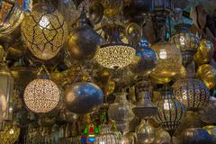 Moroccan antique lamp Stock Photos