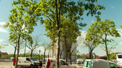 Hyperlapse 360 degree of Arc De Triomphe Stock Footage