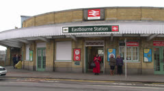 Eastbourne Station Stock Footage