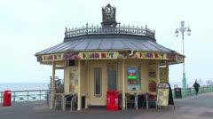 Seaside Promenade Hut Stock Footage
