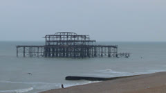 Brighton West Pier Stock Footage
