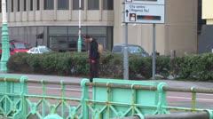 Promenade Skateboarder Stock Footage