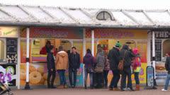 Seaside Kiosk Stock Footage
