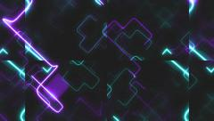 Abstract Neon Network Stock Footage