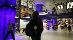 Underground passage in Munich, Germany Stock Footage