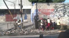 Streets of Haiti - stock footage