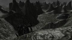 Alien Landscape (Version #1) Stock Footage
